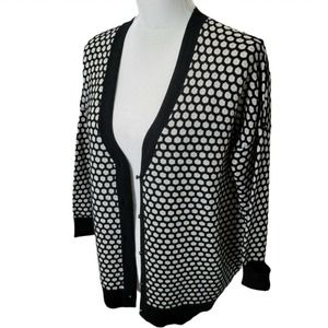 Milly Merino Wool Cardigan Sweater Button Up